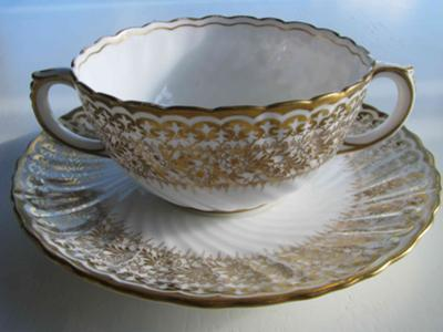 Doulton Burslem cup and saucer side view