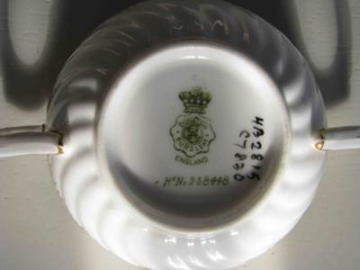 Doulton Burslem marks under cup on