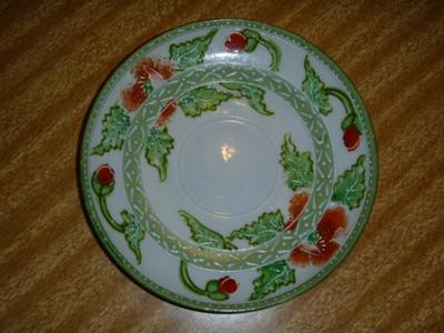 translucent porcelain Saucer Decoration