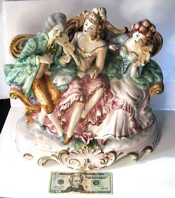Size of Capodimonte Porcelain Figural Centerpiece