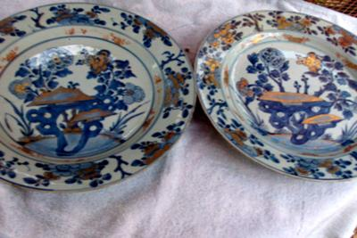 Chinese blue & white porcelain Chargers