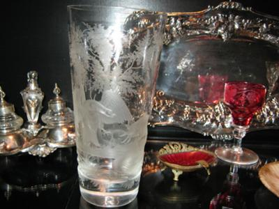 Georgian Tumblers showing decoration