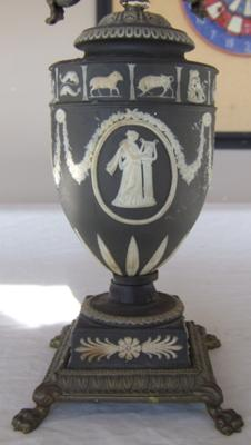 Wedgwood Black Jasperware Candelabra Decoration