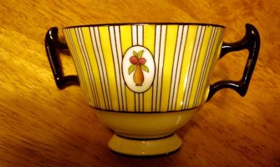 Pattern on twin-handled Royal Doulton cups