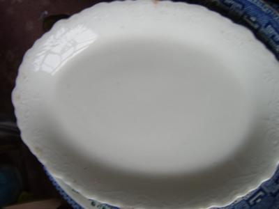 Top view of plate