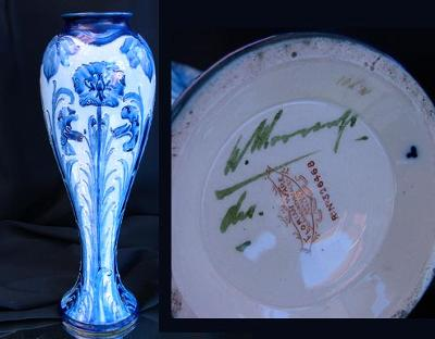 Signed William Moorcroft florian Ware Vase