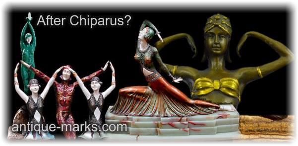 După Demetre Chiparus - Falsuri de falsuri și reproduceri