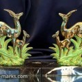 Pair of Art Deco Deer Figures with Foal at Foot