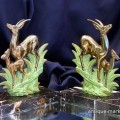 Pair of Bornze Gilt Art Deco Deer Figures
