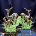 Bronze Gilt Art Deco Deer figures