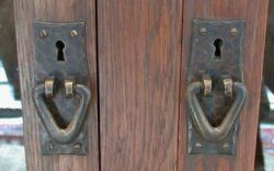 arts and crafts cabinet handles