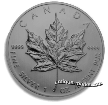 Canadian Silver Coins - 1oz Maple Leaf