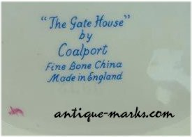 Coalport Marks - Bone China Script Mark on Miniature Cottage
