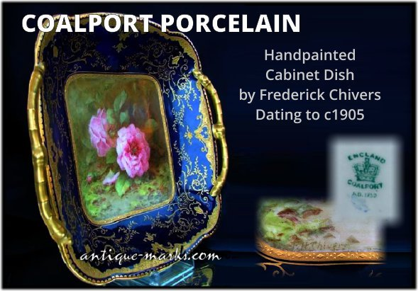 Coalport Cabinet Dish Decorated by Frederick Chivers c1905