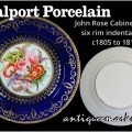 Coalport Porcelain - early John Rose Cabinet Plate c1805