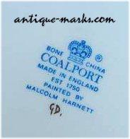 Coalport Porcelain & Dating Coalport Marks «