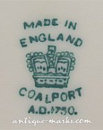 Coalport Marks - Standard Crown Mark
