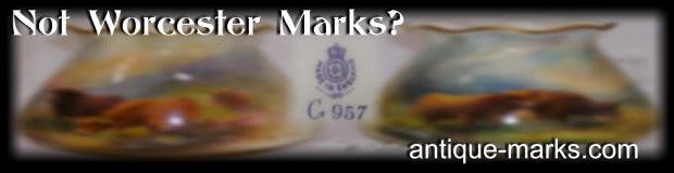Fake Royal Worcester Marks