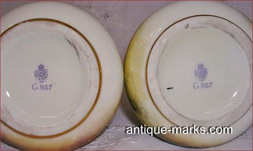 Fake Royal Worcester Marks on Harry Stinton signed vase