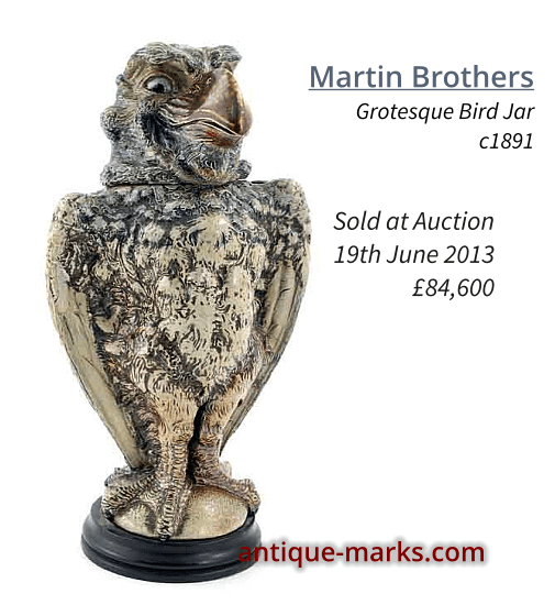 16.5 inch Martin Brothers Gothic Bird