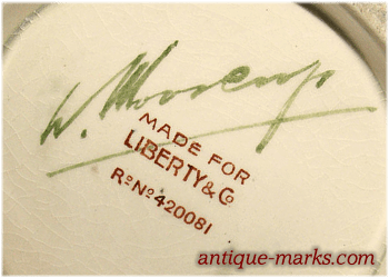 Moorcroft Pottery Mark with Liberty & Co retailer mark