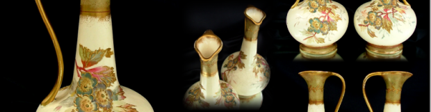 Antiques Collection: Pair of Royal Bonn Vases c1880
