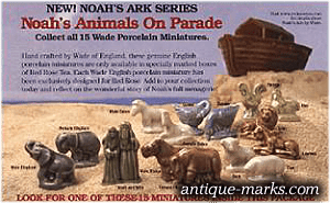 Wade Red Rose Tea Noahs Ark Series