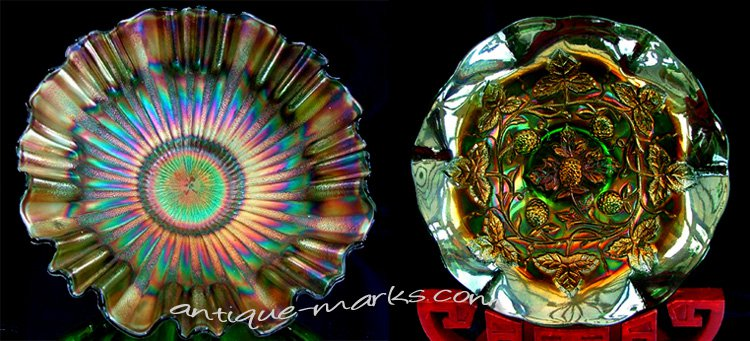 Antique Carnival Glass is a popular collectible