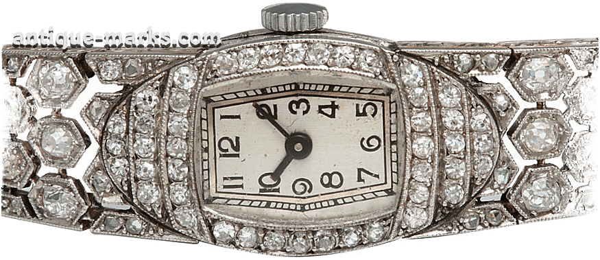 Art Deco Jewelry - Diamond Watch