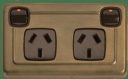Art Deco lamps light switch