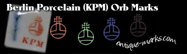 Berlin Porcelain Marks - KPM Imperial Orb marks