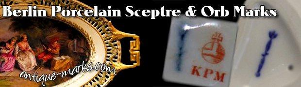 Berlin Porcelain & KPM Sceptre & Orb Marks