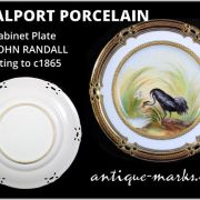 A Coalport Porcelain Cabinet Plate dating to c1865