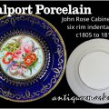 Coalport Porcelain - early John Rose Cabinet Plate c1805