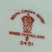 Derby Mark 2451 - c1933