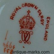 Royal Crown Derby Mark Dating c1894