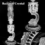 Antique Baccarat Crystal Piscatorial Candleholder