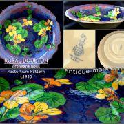 Royal Doulton Stoneware Bowl - Nasturtium Pattern