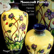 A modern Moorcroft Pottery Hepaticas Design Trial Vase