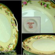Antique Noritake china cake plate bearing Komura mark
