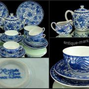Blue & White Antique Noritake China Tea set