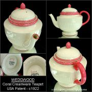 Antique Wedgwood creamware porcelain teapot