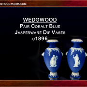 Pair of antique Wedgwood jasperware vases with lion mask handles