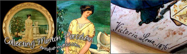 Collecting Minton China & Porcelain - Art Nouveau Plaque c1876