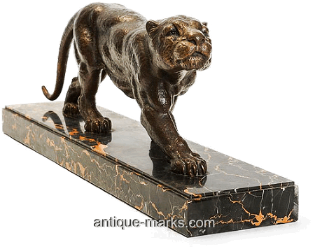 Dimitri Chiparus - Bronze Sculpture Stalking Panther