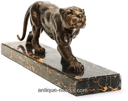 Dimitri Chiparus - Bronze Sculpture Stalking Panther