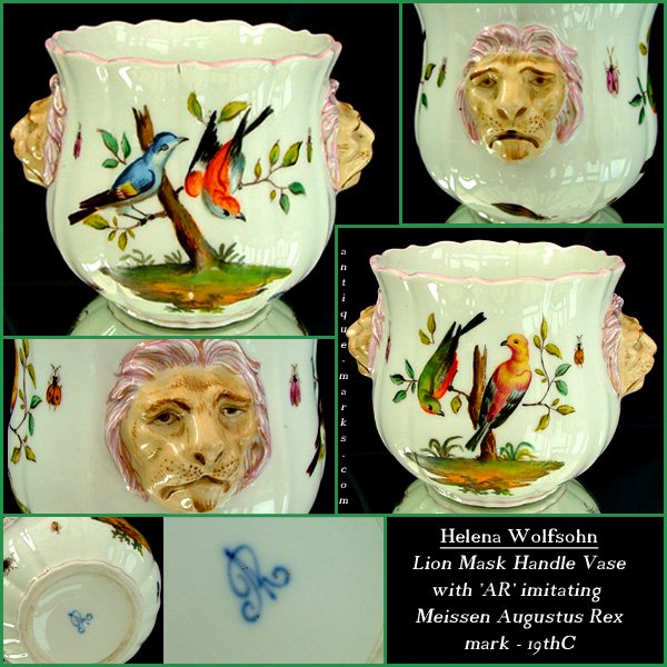 Meissen Marks Blue Crossed Swords & Augustus Rex Marks -