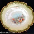 Decoration on G D & Cie, Limoges porcelain cabinet bowls