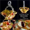 Gorgeous Antique Nailsea Spatter Glass Basket