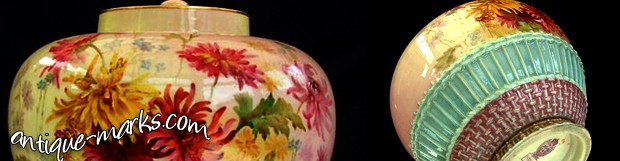 Antiques Collection: Royal Worcester Prismatic Enamels Vase